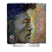 Bear Bull Shaman Shower Curtain