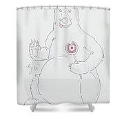 Bear Cartoon Shower Curtain