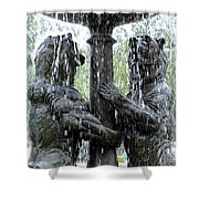 Bear Fountain Shower Curtain