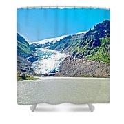 Bear Glacier Near Stewart-british Columbia  Shower Curtain