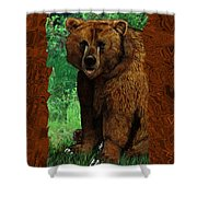Bear Naked Shower Curtain