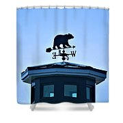 Bear Weathervane Shower Curtain