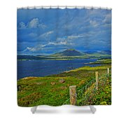 Beara Peninsula West Kerry - On The Road To Lauragh Again Shower Curtain