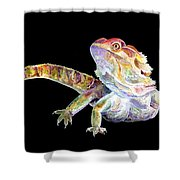 Bearded Dragon Shower Curtain