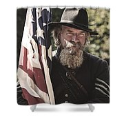 Bearing Old Glory D0256 Shower Curtain