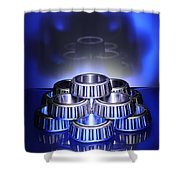 Bearings In Blue Shower Curtain