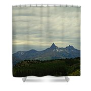 Beartooth Mountain Montana Shower Curtain