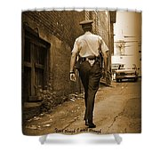 Beat Cop Shower Curtain by John Malone