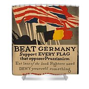 Beat Germany Shower Curtain by Adolph Treidler