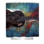 Bob Marley's First Shower Curtain