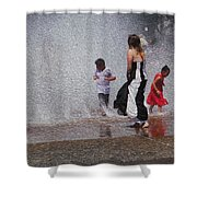 Beating The Heat Shower Curtain