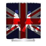 Beatles Abbey Road Flag Shower Curtain