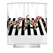 Beatles Dogs Shower Curtain by Mark Ashkenazi