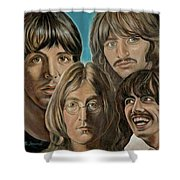 Beatles The Fab Four Shower Curtain