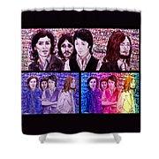 Rainbow Beatles Design Trio Shower Curtain