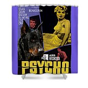 Beauceron Art Canvas Print - Psycho Movie Poster Shower Curtain