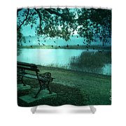 Beaufort South Carolina Surreal Ocean Inland Scene Shower Curtain by Kathy Fornal