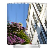 Windows With Flowers Shower Curtain