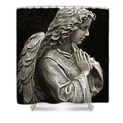 Beautiful Angel Praying Hands Christian Art Print Shower Curtain