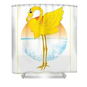 Beautiful Is The Flamingo Shower Curtain
