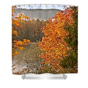 Beautiful Autumn Gold Art Prints Shower Curtain