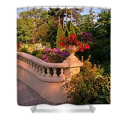 Beautiful Balustrade Fence In Halifax Public Gardens Shower Curtain