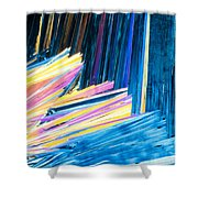 Beautiful Benzoic Acid  Microcrystals Abstract Art Shower Curtain