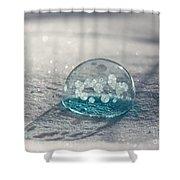 Beautiful Blue Bubble Shower Curtain