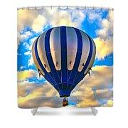 Beautiful Blue Hot Air Balloon Shower Curtain