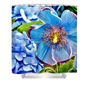 Beautiful Blue Orchid Shower Curtain