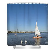 Beautiful Blue Sky Shower Curtain