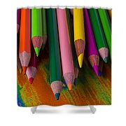 Beautiful Colored Pencils Shower Curtain