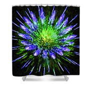 Beautiful Colorful Holiday Fireworks 1 Shower Curtain
