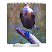 Beautiful Cormorant Shower Curtain