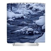 Beautiful Creek In Winter In Stanley Idaho Shower Curtain