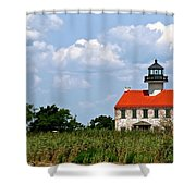 Beautiful Day At East Point Lighthouse  Shower Curtain