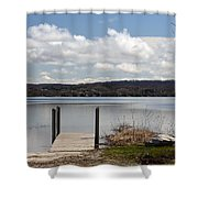 Beautiful Day At The Lake Shower Curtain