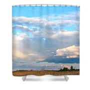 Beautiful Day By The Bay Shower Curtain