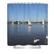 Beautiful Day By The River Shower Curtain