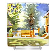 Beautiful Day On The Courthouse Square Shower Curtain