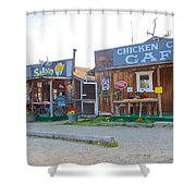 Beautiful Downtown Chicken-alaska Shower Curtain
