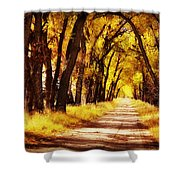 Beautiful Fall Day In Nebraska Shower Curtain