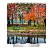 Beautiful Fall Foliage In New Hampshire Shower Curtain