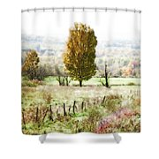 Beautiful Fall Landscape - Looks Like A Painting Shower Curtain