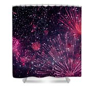 Beautiful Fireworks 12 Shower Curtain