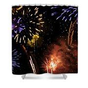 Beautiful Fireworks 5 Shower Curtain