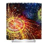 Beautiful Fireworks 8 Shower Curtain