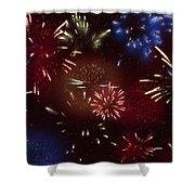 Beautiful Fireworks 9 Shower Curtain