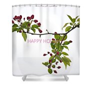 Beautiful Floral Greetings Shower Curtain