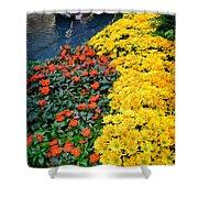 Beautiful Flower Garden Bellagio Las Vegas Shower Curtain